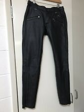 leather pants PePe Denim Brand Sz8.
