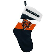 """Chicago Bears Christmas Stocking Holiday 17"""" Team Colors Logo New! - ST19"""