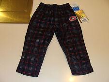 2012-13 Montreal Canadiens Plaid Pant PJs Pyjamas Age 5/6 Medium Child Kids