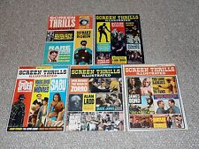 1960s Warren Screen Thrills Illustrated Lot of 5 Issues: # 5, 7, 8, 9 & 10