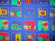 Bären Stoff Baumwolle 140 cm blau für Kirschkernkissen oder Deko im Kinderzimmer