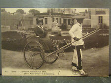 cpa 69 lyon les pouss pouss chinois exposition internationale 1914
