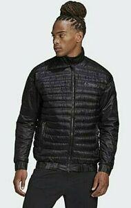 Adidas TERREX Hiker Bomber Down Fill Zip Jacket Men's L BLACK GD1165 $200 MSRP
