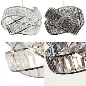 Intertwined Rings Ceiling Pendant Light Shade Modern Acrylic Jewel Design Lights