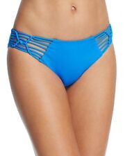 NEW BECCA Water Blue Electric Current Hipster Bikini Bottom Swimwear L Large