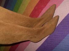 BOTAS MARCA SH pegadas finas y elasticas TALLA 36 SIZE 3 tono camel poco tacon