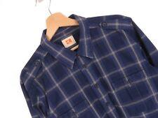 apr093 HUGO BOSS ARANCIONE Camicia L/S maglia blu a scacchi ORIGINALE PREMIUM L