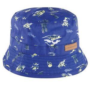 UBBAM37 Urban Beach Mens Bucket Hilo Hat In Blue 58 cm MRP £9.99 FREE POSTAGE !!