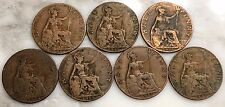 Lot of 7 UK Half Penny Coins 1914-1920, George V England Great Britain