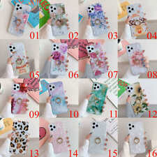 For iPhone 12 Pro Max 11 XS XR 7 8 Plus Flower Ring Holder Stand Soft TPU Case
