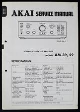 AKAI am-39 am-49 Original INTEGRATED AMPLIFIER SERVICE-manual/Diagram o156