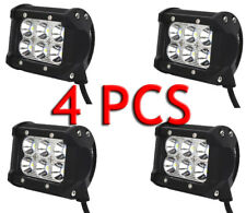 4x 4inch 18W CREE Led Work Light Bar SPOT Cube Pods Offroad Lamp Fog SUV ATV 4WD