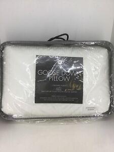 $380 Hotel Collection European White Goose Down Pillow Standard/Queen