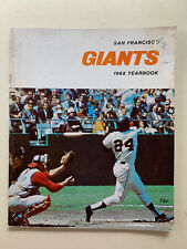 1968 San Francisco Giants 54 page OfficIal Souvenir Yearbook .