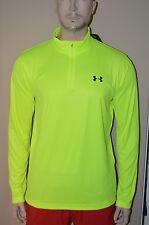 Under Armour Men's 1/4 Zip Yellow Volt Loose Fit Long Sleeve Shirt Size XL