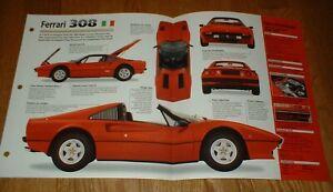 ★★1977 FERRARI 308 GTS ORIGINAL IMP BROCHURE SPECS 77 78 79 80 81 82 83 84 74-85