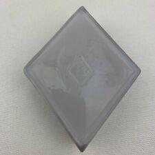 Boyd Art Glass Diamond Shape Logo Paperweight / Color Sample - Light Purple
