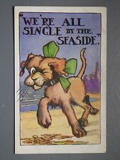 R&L Postcard: Knuts Series, Single by the Seaside, Dog Winking