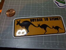 GLOSSY SKATEBOARD VOYAGE TO SYDNEY Sticker/ Decal Stickers Actual Pattern NEW