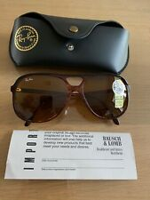 Genuine  Ray Ban Bausch Lomb Aviator Style B Large Brown frames