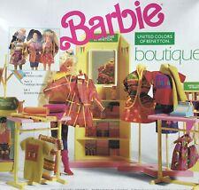 RARE 1990 Vintage Benetton Barbie Boutique.