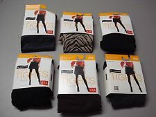 NWT Women's 6 No Nonsense Patterned Tights Size S/M Multi #764D