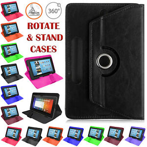 """Universal Leather 360 Rotate Flip Stand Case Cover For All Lenovo 10.1"""" Tablets"""
