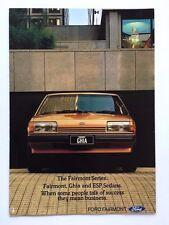1982 Ford Fairmont ESP and Ghia Australia Original Car Sales Brochure Catalog