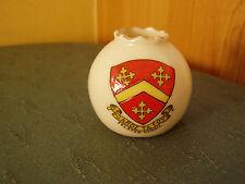 Felsted School Essex Crest-Crinkle Top vase-Toscane Crested China