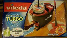 Brand New Vileda Turbo Easywring & Clean Complete Set Mop Bucket Floor cleaner