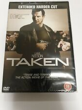 TAKEN DVD Liam Neeson Extended Harder Cut Film Free Postage
