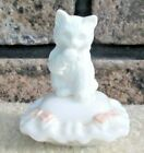 Vintage+Avon+White+Cat+on+Pillow+Milk+Glass+Sitting+Pretty+Perfume+Bottle