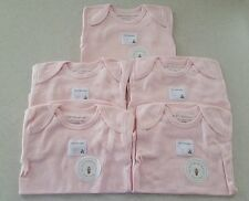 NWT Burt's Bees Infant 6-9 MONTHS Organic Cotton PINK Bodysuits 5-PACK #19316