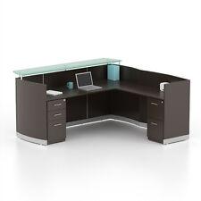 office furniture reception desk counter. reversible mocha laminate l shape reception desk textured glass counter office furniture reception desk counter t