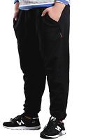 Mens big and tall black track sweat pants 4XL 5XL 6XL 7XL plus size 112 117 120