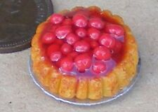 1:12 Red Cherry Pie Flan Dolls House Miniature Kitchen Food Cake Accessory D27