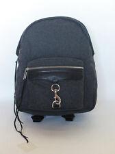 Rebecca Minkoff MAB Backpack Gray Wool NWT Bag Bookbag Full Size