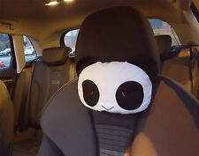 x2 Panda Car Cushions Neck Headrest Neck Chair Guard Head Pillow Automotive UK