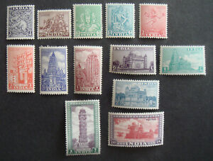India 1949 Archaelogical series MH mints Sg309-321