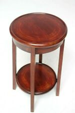 Art Deco Inlaid Mahogany Two Tier Side Table [6411]