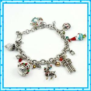Brighton Christmas Lane Charm Holiday Bracelet NWOT $98