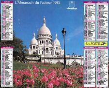 CALENDRIER DES POSTES. ALMANACH DU FACTEUR. ORIGINAL  1993  LA POSTE .Oberthur