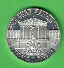 """Österreich, 50 Schilling 1968, """" 50 Jahre Republik Österreich """", offene PP"""