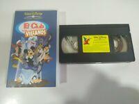El Club de los Villanos Walt Disney Mickey - VHS Cinta Español