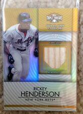 RICKEY HENDERSON 2012 TRIPLE THREADS BAT #6/9 METS
