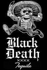 Vintage 1% Oultlaw Biker BLACK DEATH TEQUILA Shirt!  L  -  MAS TEQUILA