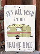New Camping Metal Sign - Trailer Hood Sign - Camping Decor - Vintage Camper