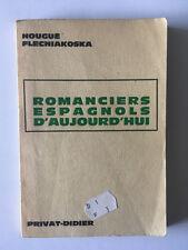 ROMANCIERS ESPAGNOLS D'AUJOURD'HUI 1964 FLECNIAKOSKA