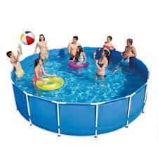 Frame Pool 366 x 91 cm rund Schwimmbecken Planschbecken Stahlrohrbecken Swimming
