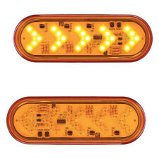 Sequential ARROW TURN SIGNAL (PAIR) Oval light - AMBER/AMBER - Semi Trucks